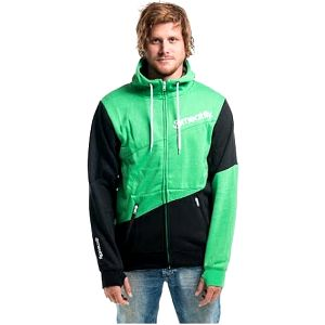 Meatfly Mikina Section MNS Hoodie A - Black/Green M