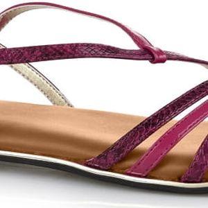 Butterfly Twists Skládací sandály Charli Raspberry Rose Snake/Chestnut tan BT07-002-219 40