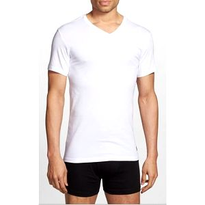 Ralph Lauren Polo Sada triček 3PACK Trim Fit V-Neck T-Shirt bílá XL