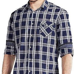 Edward Jeans Pánská košile Denim Shirts Chequered 16.1.1.03.012 XL