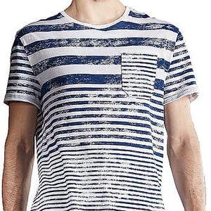 Edward Jeans Pánské triko Stripes T-Shirt 16.1.1.01.016 XL