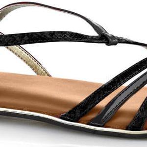 Butterfly Twists Skládací sandály Charli Black Snake/Chestnut Tan BT07-002-201 38