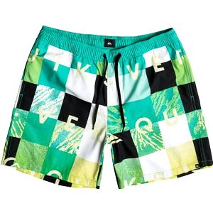 Quiksilver Pánské koupací šortky Check Remix VL 17 Pool Green EQYJV03052-GMJ6 M