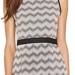 Forever 21 Dámské šaty Colorblocked Chevron Prin - šedé S