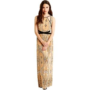 Forever 21 Dámské šaty Southwestern Print Cutout Maxi Dress S
