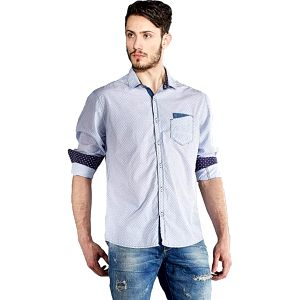 Edward Jeans Pánská košile Denim Shirts Light Blue 16.1.1.03.005 L