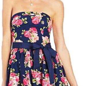 Forever 21 Dámské šaty Garden Party Tube Dress-modrá L