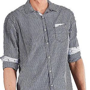 Edward Jeans Pánská košile Denim Shirts Blue 16.1.1.03.020 M