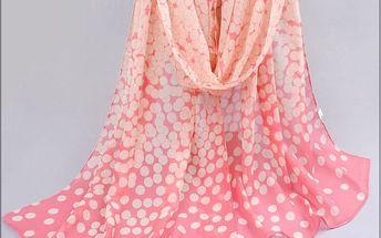 Dámský šátek v pastelových barvách - 3 varianty