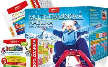 Cemio Multivitamín zázvor 80+ 40 tablet a Dětský multivitamin Slizáčci 100 + 30 pastilek