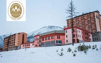 Zimní pobyt s neomezeným wellness v GRAND HOTELU BELLEVUE**** Vysoké Tatry