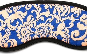 Fashion Icon Maska na spaní modrá ornament