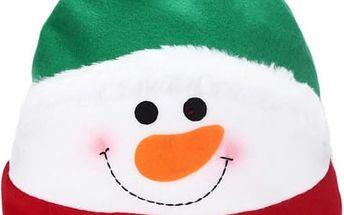 Dětská čepice v podobě sněhuláka