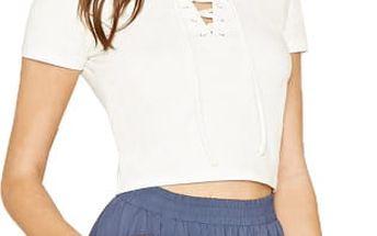Forever 21 Dámské šortky Boxy Woven Shorts - modré M