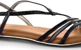Butterfly Twists Skládací sandály Charli Black Snake/Chestnut Tan BT07-002-201 36