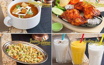 33% sleva na veškerá jídla z jídelního lístku a indické nápoje v Indian Aroma