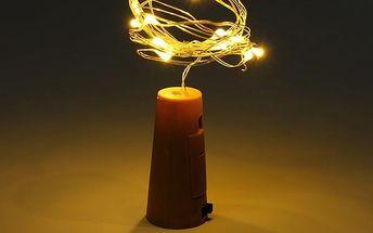 Špunt na víno s LED světýlky
