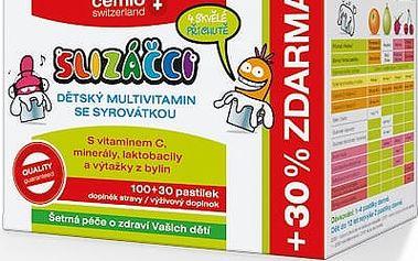 Cemio Slizáčci Dětský multivitamín se syrovatkou 130 tablet