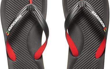 Quiksilver Pánské žabky Haleiwa Black/Red/Green AQYL100054-XKRG 42