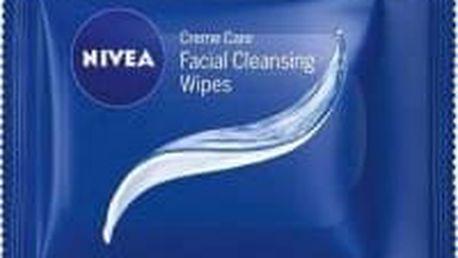 Nivea Aqua Effect Osvěžující čistící pleťové ubrousky 25 ks normální a smíšená