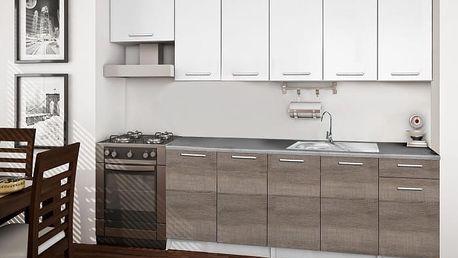 Basic - Kuchyňský blok C, 260/200 cm (bílá, trufle, titan)