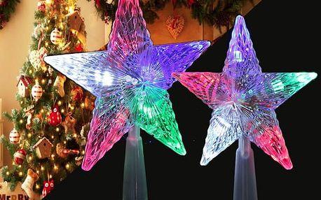 Barevně svíticí vánoční hvězda