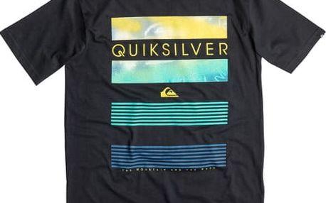 Quiksilver Tričko Classic Tee Line Up Black EQYZT03623-KVJ0 XL