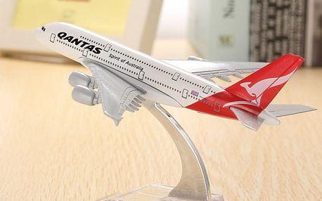 Model letadla Airbus A380 společnosti Qantas
