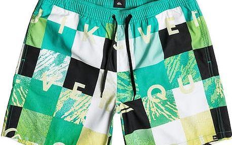 Quiksilver Pánské koupací šortky Check Remix VL 17 Pool Green EQYJV03052-GMJ6 L