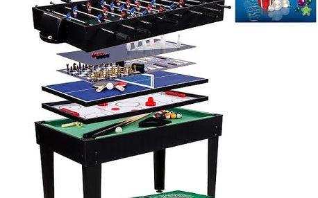 Multifunkční herní stůl 15 v 1 - černý - PŘEDOBJEDNÁVKA