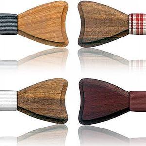 Ručně vyráběný dřevěný motýlek ve 4 provedeních