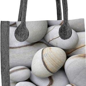 Lecharme Elegantní filcová kabelka EKO City Kamen