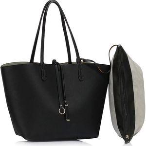 Dámská černošedá oboustranná kabelka Lorieta 393