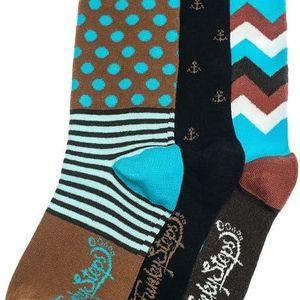 Tři páry ponožek Funky Steps Nero, unisex velikost