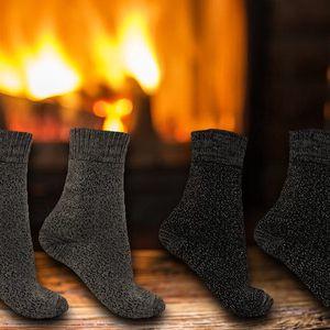 Pánské bavlněné termo ponožky