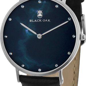 Černé dámské hodinky Black Oak Marble - doprava zdarma!
