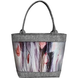 Lecharme Elegantní filcová kabelka EKO Polo Tulipany