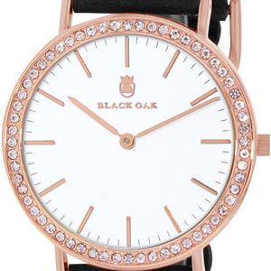 Černé dámské hodinky Black Oak Boho Diamond Rose - doprava zdarma!