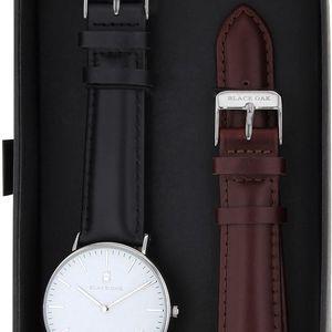 Set černých dámských hodinek s řemínky Black Oak - doprava zdarma!