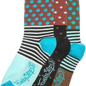 Tři páry ponožek Funky Steps Iris, unisex velikost