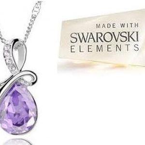 Luxusní řetízek s fialovým krystalem