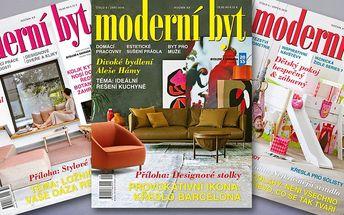 Roční předplatné časopisu Moderní byt 2017
