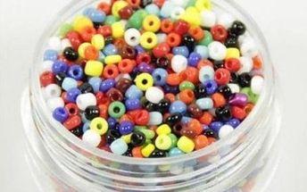 Skleněné navlékací korálky o 150 kusech v balení, mix barev - dodání do 2 dnů
