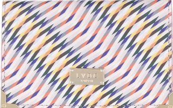 Krémová peněženka s barevným vzorem LYDC