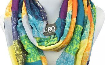 Dámský šátek s pestrobarevnými kostkami
