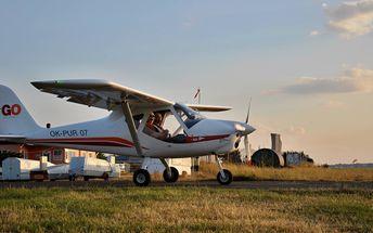 Vyhlídkový let dle vašeho přání na 20-30 min., v ceně možnost pilotáže, poplatky a instruktor