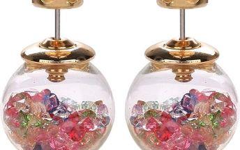 Krásné šperky: set náušnic a řetízku z bižuterních kovů, Swarovski Element nebo náušnice
