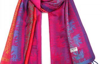 Dámský šátek s motivy indických slonů