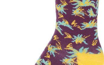 Žluto-vínové unisex ponožky Happy Socks Aloha