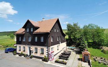 Krušné hory, Klínovec na 3-5 dní pro 1 osobu s plnou penzí v hotýlku Arnica, do 31.10.2017
